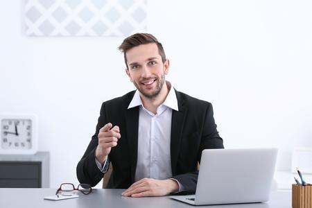 HR manager conducting job interview 版權商用圖片