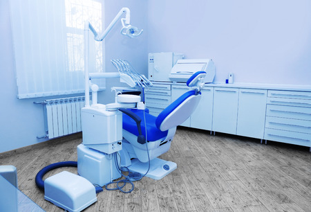 Interior of dental room in modern clinic Stock Photo