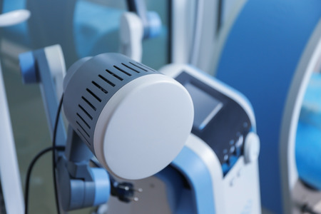Special medical equipment in modern clinic, closeup