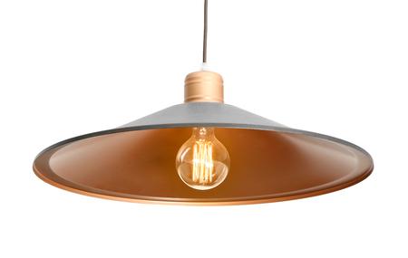 Modern pendant lamp on light background