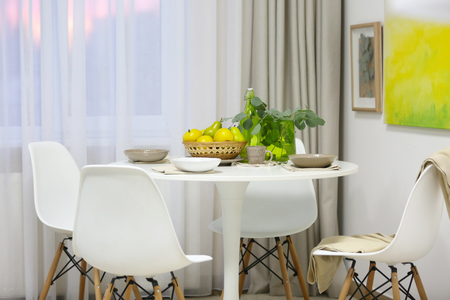 Stylish dining room interior Stock Photo - 109848221