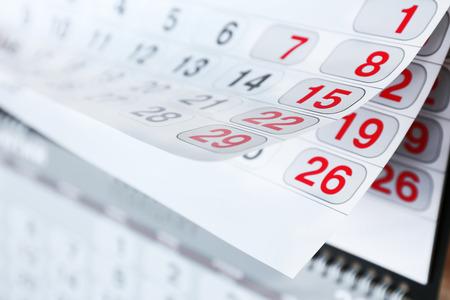 Closeup of calendar page Reklamní fotografie
