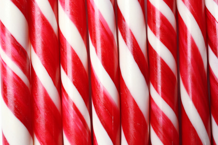 Christmas candy canes as background Stock Photo
