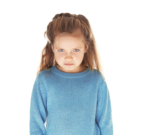 Cute little girl isolated on white Zdjęcie Seryjne