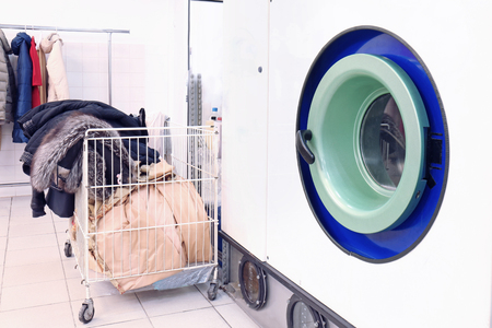 Washing machine at dry-cleaning