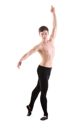 Handsome young ballet dancer on white background Banque d'images