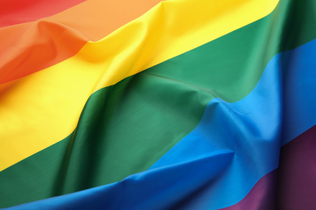 Rainbow gay flag background Stock Photo
