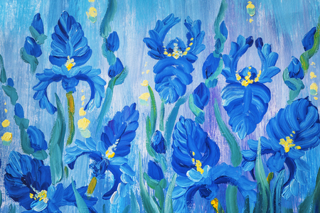 Oil painting of beautiful flowers Archivio Fotografico