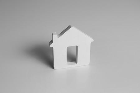 House model on white background