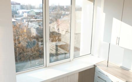 Room window in modern flat