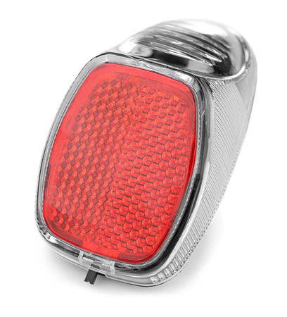 Bicycle light reflector on white background Stock fotó