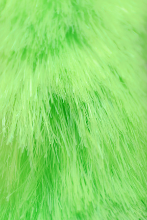 Soft green duster, closeup