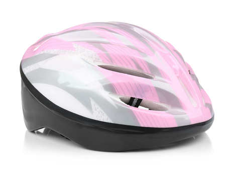 Bicycle helmet on white background