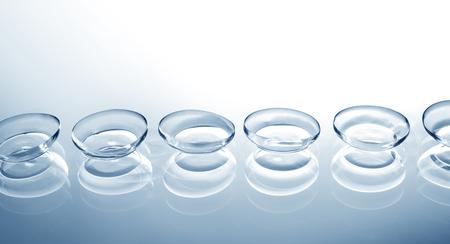 Contact lenses on color background Standard-Bild