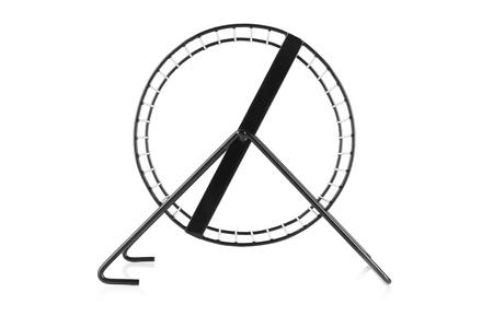 Haustierrad auf weißem Hintergrund