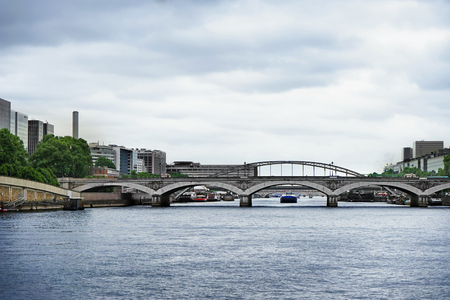 Beautiful view of vintage bridge and river in city Reklamní fotografie