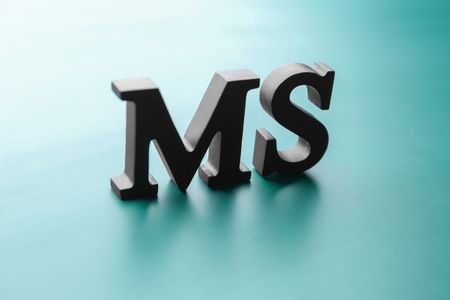 Management abbreviation MS made with letters on light color background 版權商用圖片