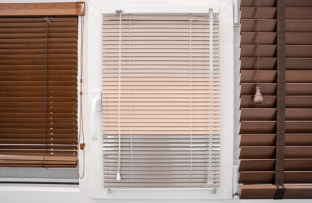 Modern blinds for home and office in shop Stockfoto - 110204712