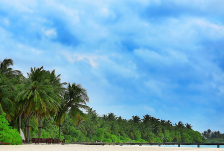 Beautiful tropical beach on summer day Imagens