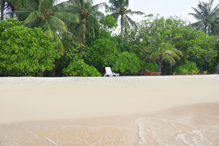 Beautiful beach at tropical resort 写真素材