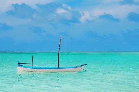 Small boat at sea resort