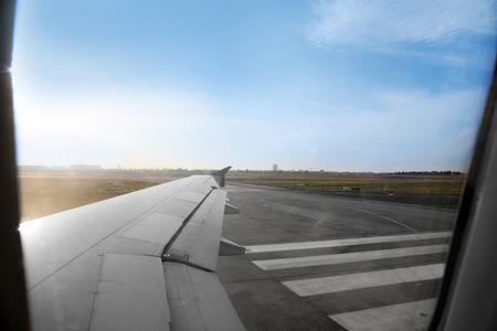 View from aircraft window Фото со стока