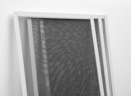 New mosquito window screens on white background Zdjęcie Seryjne