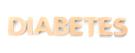 Word Diabetes on white background