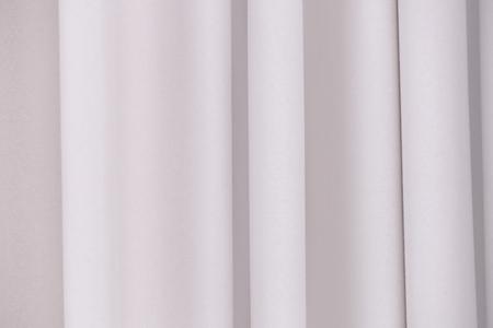 Beautiful silk curtains, closeup Stockfoto