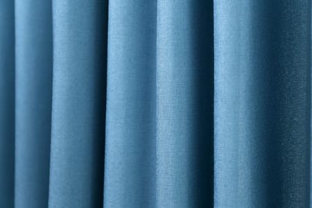 Beautiful colorful curtains, closeup