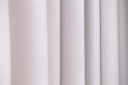 Beautiful silk curtains, closeup 免版税图像