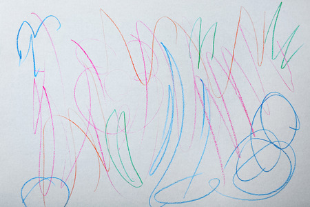 Colorful abstract child's drawing