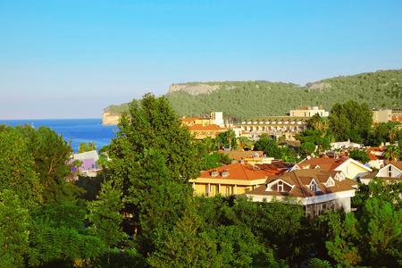 Beautiful view of city on seacoast Stok Fotoğraf