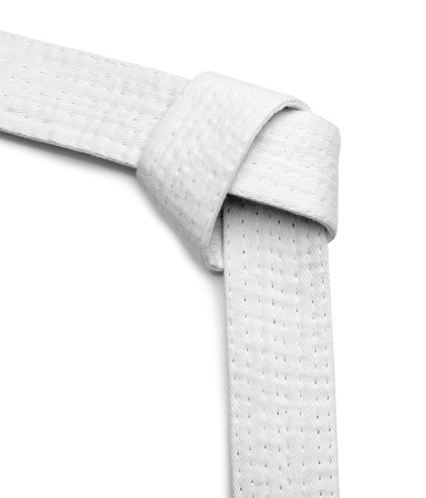 Karate belt on white background Stockfoto