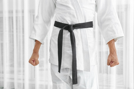 Male karate instructor indoors