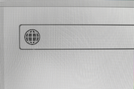 Searching box on monitor screen