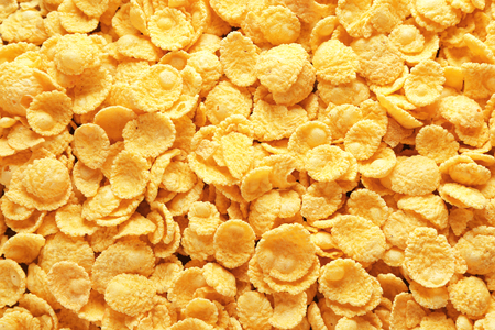 Tasty cornflakes as background Reklamní fotografie