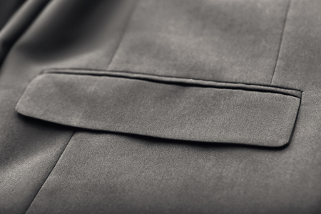 Pocket on elegant male suit, closeup Banque d'images