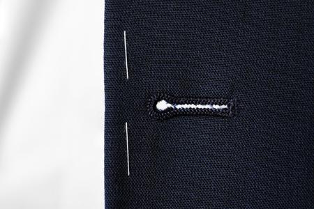 Elegant semi-ready suit, closeup Stock Photo