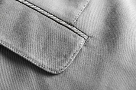 Pocket of elegant custom-made suit, closeup Stock Photo
