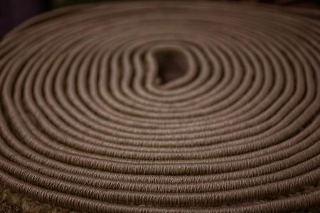 Rolled carpet, closeup Stockfoto