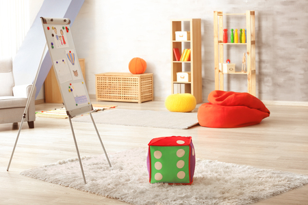 Interior of child psychologists office Stock Photo