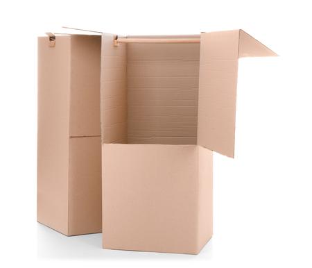 Wardrobe boxes on white background