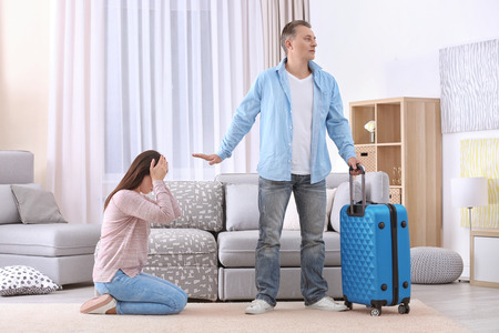 Family with problems in relationship at home