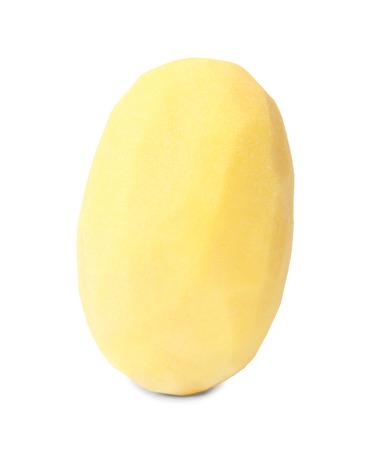 Pomme de terre épluchée crue sur fond blanc Banque d'images