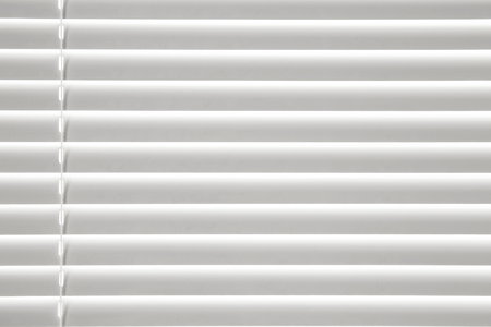 White venetian blinds, closeup