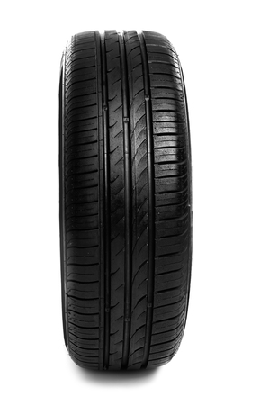 Car tire on white background 免版税图像