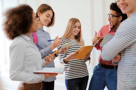 Group of students in university hall during break Reklamní fotografie