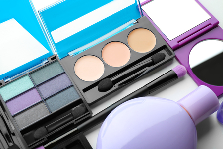 Set of cosmetic products, closeup Banque d'images