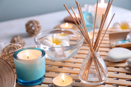 Beautiful spa composition on table